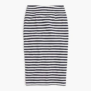 J. Crew | high waisted striped knit pencil skirt